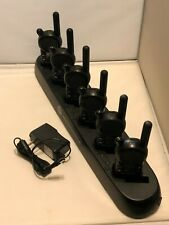 6 Motorola CLS1110 UHF Radios with HCTN4002A CLS 6 pocket Multi-Unit Charger