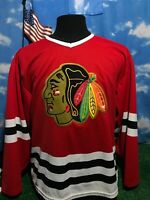 Chicago Blackhawks sewn stitched jersey red shirt rip on back seam Medium M c21