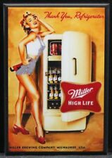 "Sexy Beer Fridge Pinup Girl 2"" X 3"" Fridge / Locker Magnet. GGA Beer"