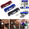Portable Key Holder Organizer Clip Folder LED Keychain Ring EDC Pocket Tool