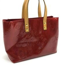Auth Louis Vuitton Vernis Reade PM Hand Bag Red