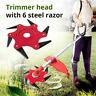 Outdoor Trimmer Head 6 Steel Blades Razors 65Mn Lawn Mower Grass Weed Cutter New