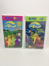 Teletubbies LOT of 2 VHS Dance with the Teletubbies (2) & Nursery Rhymes (3)