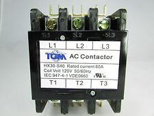 Definite Purpose Contactor 60AMP/3Pole/120Volt New Heat Pump, A/C Refrigeration