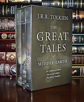 Great Tales Middle-Earth by Tolkien New Sealed 3 Volume Hardcover Gift Box Set