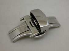 18MM Deployment Buckle Double Clasp POLISHED Stainless Steel
