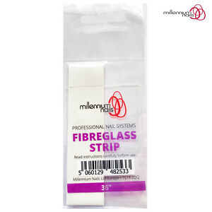 "Millennium Nails FIBREGLASS Nail STRIP 36""/91cm Long Overlays/Repairs Nail Wraps"