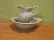 VINTAGE SMALL WATER PITCHER AND BOWL
