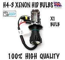 1X H4-3 BI XENON HID KIT BULBS 35W H4 HI/LOW BEAM METAL BASE BULBS 6000K/8000K