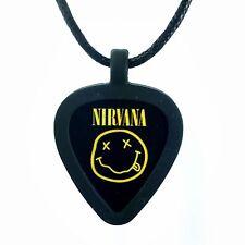 Guitar Pick Necklace by Pickbandz PICK HOLDER in Black w/LTD Nirvana Guitar Pick