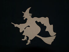 MDF Wooden Halloween Witch Plaque Embellishments unpainted blank craft shape