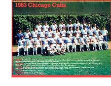 1983 CHICAGO CUBS 8X10 TEAM PHOTO  BASEBALL SANDBERG BUCKNER CEY BOWA DURHAM HOF