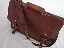 Guenine Leather Messenger Briefcase Satchel Laptop Bag For Men's And Women's
