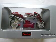 SAICO 1:18 SCALE  YAMAHA RED / SILVER YZR 500  MOTORCYCLE  [MINT AND BOXED]