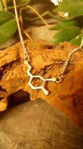 Dopamine Molecule DNA genetic structure pendant necklace
