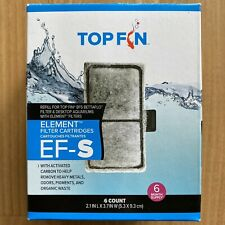6 TOP FIN EF-S ELEMENT Filter Cartridges Size 2.1