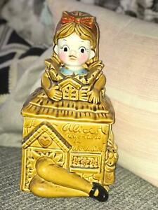 Disney Alice in Wonderland vintage Porcelain Cookie Jar- 1950s Japan