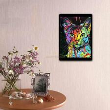 DIY 5D Diamond Painting Embroidery Colorful Cat Animals Cross Stitch Kit Decor