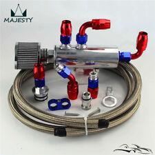 Oil Catch Can Tank Reservoir + Breather Filter w/ Hose Kit For Honda Acura VTEC
