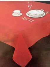 Beautiful Cotton Blend Tablecloth, Chocolate Brown, 60 X 139 Oval, Harbox5,13