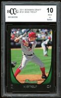 2001 Bowman Draft #101 Mike Trout Rookie Card BGS BCCG 10 Mint+