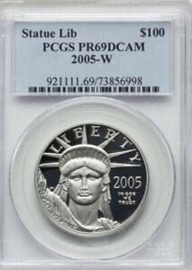 2005-W $100 One-Ounce Platinum Eagle, Statue of Liberty PR69 PCGS DCAM