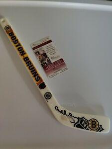 Bobby Orr Autographed Boston Bruins Mini Hockey Stick JSA COA NHL HOF