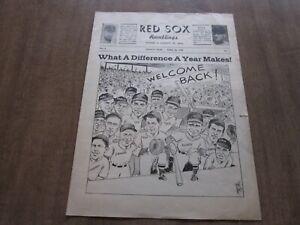1946 Boston Red Sox Ramblings Baseball Newsletter