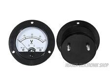 0 - 40V DC  Analog Einbau Messinstrument , Rund Voltmeter - Messgerät.