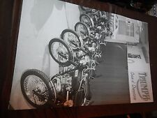 TRIUMPH MOTORCYCLE DEALER SHOWROOM WINDOW POSTER SIGN CHOICE OF CHAMPIONS 1969