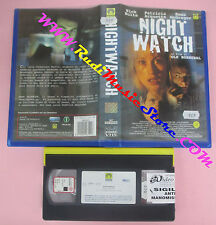 VHS film NIGHTWATCH 1998 Nick Nolte Patricia Arquette MEDUSA (F153) no dvd