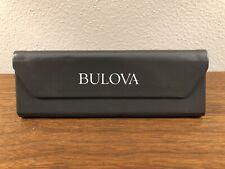 NEW BULOVA Triangular Glasses Sunglasses Leather Magnetic Hard Case Gray