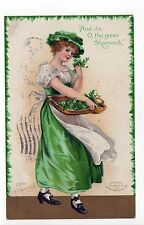 ELLEN CLAPSADDLE PC Postcard IRISH St Patrick's Day IRELAND Eire SHAMROCK Green