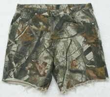 """Wrangler Pro Gear Camouflage Dress Shorts 36"""" X 8.5"""" Flat Front Cotton Casual"""