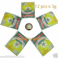 12 Boxes x3g Golden Star Aromatic Balm - Vietnamese Cao Sao Vang Ointment