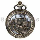 Retro Vintage Antique Steampunk Bronze Pocket Watch Quartz Necklace Pendant Gift