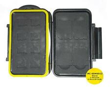 JJC MC-SDMSD12 Rugged Waterproof Memory Card Case (4x SD / 8x microSD)