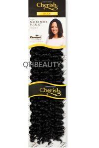 "WATER WAVE BULK 12"" CHERISH CROCHET BRAID CURLY HAIR EXTENSION (FREETRESS COPY)"