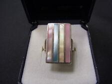 925er Silberring mit Perlmutt Ringgroße 52 Gewicht 7,38 gramm