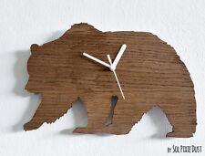 Bear Silhouette - Wooden Wall Clock