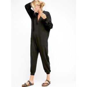 Free People Just Because Black Jumpsuit-M-$118 MSRP