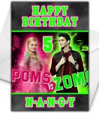 DISNEY ZOMBIES Personalised Birthday Card - Disney Zombies Christmas Card - D3