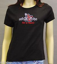 T-Shirt femme MC HELL ON WHEELS - Taille M - Style BIKER HARLEY
