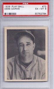 1939 Play Ball Set # 72 Debs Garms Boston Bees PSA 6