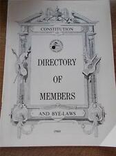 RARE 1980 Constitution THE MUSICAL BOX SOIETY OF GREAT BRITAIN Members Directory
