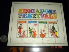 RARE Perforation Shifted Up 1971 Singapore Festivals MS, CTO