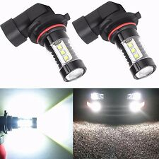 Alla Lighting 2x 80W 9006 HB4 Xtemely Super 6000K White LED Fog DRL Lights Bulbs