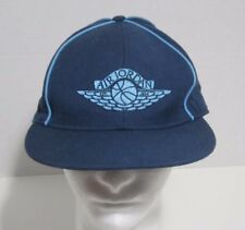 Vintage Air Jordan Flat Bill  Hat  Fitted Wool Cap Size 7 7/8 1980's Wing Logo