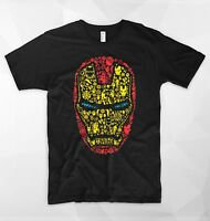 Iron Man T Shirt Stark Industries Logo Mask Head Tony Stark Marvel Avengers