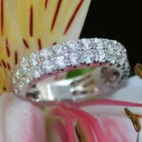 2.00 Ct Round Cut Diamond Anniversary Band Ring 14k White Gold Finish